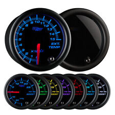 GlowShift Tinted 7 Color 1500° F Pyrometer EGT Gauge GS-T708_1500