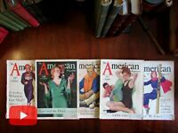 1931 America lot of 5 wonderful illustrated magazines w/ many great color ads