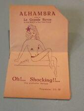 1945 Brussels Belgium Alhambra Theatre La Grande Revue Program Simone Max Risque