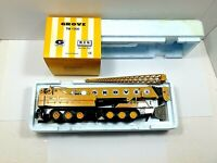 NEW NZG No. 152 Grove TM1500 Mobile Crane - Yellow 1/50 Die-cast LN Oringial Box