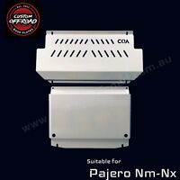 Custom Offroad Pajero Nm-Nx Vented Style 2 piece Stainless Bash Plate -3mm