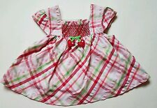 Baby Girls So Berry Cute Size 6-12  Swing Top Shirt Plaid Gymboree Summer