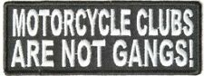 Motorcycle Clubs Are Not Gangs Embroidered Biker Patch