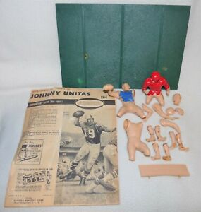 Vintage 1965 Aurora Great Moments In Sports Johnny Unitas Model Kit #864 lot pcs