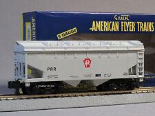 LIONEL AMERICAN FLYER PRR 2 BAY COVERED HOPPER 263152 S GAUGE 2 rail 6-47963 NEW
