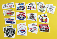 HOT ROD Retro vintage Sticker Decal SET OF 28 Classic Drag Race Speed Shop USA