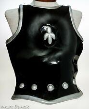 Medieval Chest Armor Lightweight Blk/Slv Flexible Plastic Frontal Costume Armor
