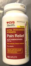 CVS Health ACETAMINOPHEN EXTRA STRENGTH(500 mg.) PAIN/ FEVER 150 CAPLETS 01/2023