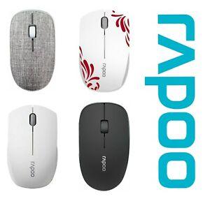 Rapoo Sans Souris Bluetooth 2.4 GHZ Optique 3 Bouton Silencieux Ambidextre Neuf
