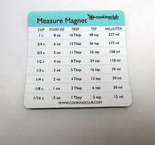 Lot of 1,200 Pieces - Cooking Club of America Measure Conversion Magnets