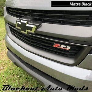 2015-2020 Chevrolet Colorado Bowtie Emblem Overlay Decals Set of 2 Matte Black