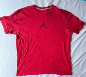 Vintage Jordans Red T-Shirt XL Basketball