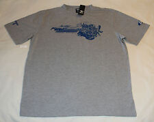 Ford Mustang Mens Grey Horse Power Printed Short Sleeve T Shirt Size XXL New