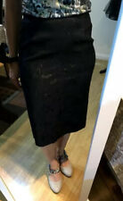 Karen Millen Black Floral Pencil Skirt - Size 12