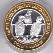 2000 Golden Nugget Laughlin Millennium Parrots .999 Fine Silver $10 Casino Token