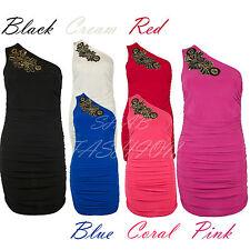 One Shoulder Sequin Design Dress