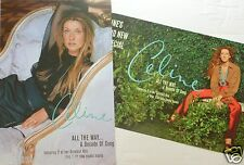 """CELINE DION """"ALL THE WAY...A DECADE OF SONG"""" 2-SIDED U.S. PROMO ALBUM POSTER"""