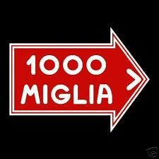 1000 Miglia Stickers Rally GP Old Vintage