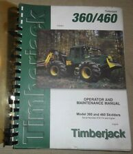 Timberjack 360 460 Skidder Operator Operation Amp Maintenance Manual Book 974174
