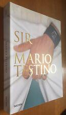 Mario Testino firmado Sir fotógrafo original firma firma autógrafo