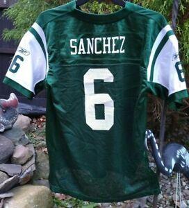 Rebok NFL Boys Size  14/16 Jets Jersey Mark Sanchez