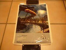 Radium-Lampen Original altes Plakat
