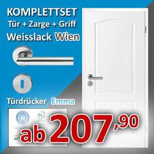 Innentür WIEN - Zimmertür + Zarge + Türgriff - Komplettset Weißlack Weisslack