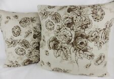 Joie de Vivre Sanderson Fabric Cushion Covers Floral Toile Natural Linen Scatter