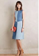 """NWOT Patch """"Pieced Denim Dress"""" by Holding Horses--10 Runs Small"""