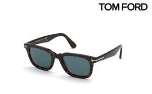 Tom Ford Sunglasses TF817 Dario 52V Dark Havana / Blue RRP-£250