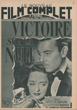 Le Nouveau Film Complet N° 8/1946 - Victoire sur la Nuit, Bette Davis G. Brent