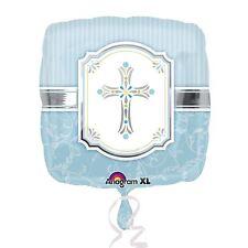 Bendiciones Sagrado Cruz Azul BODA BAUTIZO COMUNIÓN NIÑO metalizado plano Globo