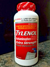 Tylenol Pain Reliever Fever Reducer Extra Strength 500mg 225  Rapid Release Gels