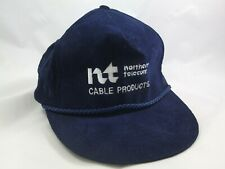 1st Northern Telecom Cable Products Hat Vintage Dark Blue Snapback Baseball Cap