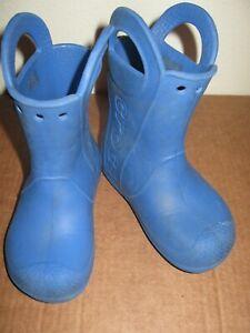 Crocs blue Handle It rubber rain boots 9 kids toddler