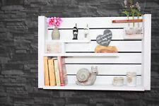 Vintage  Regal  weiß Küchenregal Shabby chic Nostalgie Board Gewürz