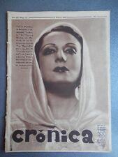 REVISTA CRÓNICA 03/02/1935 NOTICIAS REPÚBLICA EQUIPOS BARCELONA Y ESPAÑOL FUTBOL