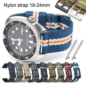 22mm Sports Weave Nylon Strap 18 24 20mm Watch Band Quick Release Pins Bracelet