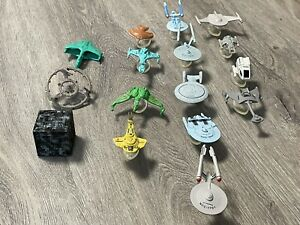 1990s Micro Machines lot Of 16 Star Trek ships And 13 Bases