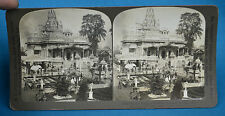 India Stereoview 1907 Jain Temple At Calcutta Kolkata HC White NR