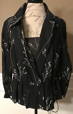 AKRIS Top Blouse Jacket & Cami Black/Ivory Size 8 *New With Tags*