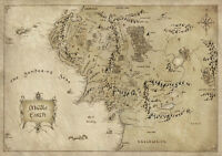 Map of Middle Earth Lord Of The Rings MME01 POSTER ART PRINT A1 A2 A3 A4 SIZES