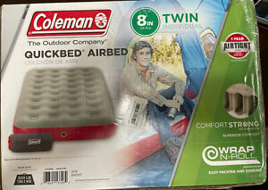 """COLEMAN QUICKBED WRAP & ROLL AIR MATTRESS - TWIN SIZE -8"""" Holds Up To 300LBs"""