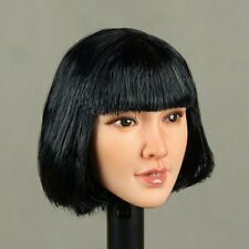 1/6 Scale Phicen, Super Duck - Asian Female Tan Head Sculpt w/ Short Black Hair