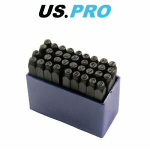 US PRO 36pc 4mm Large Letter And Number Punch / Metal Stamp Security Set 2049