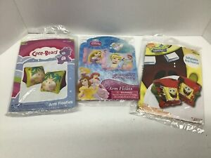 Inflatable Swimming Arm Floaties  (Care Bears, Disney Princesses, Sponge Bob)