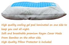 Adjustable Memory Foam Pillow with Cooling Gel Pad & Bamboo Fiber Pillow Case