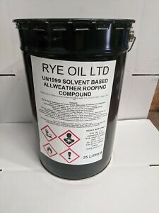 ALL WEATHER ROOFING COMPOUND BITUMEN 25 LITRE X 10