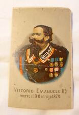 SAVOIA LUTTINO MORTE  VITTORIO EMANUELE 1878 ROYALITY SANTINO MORTINO