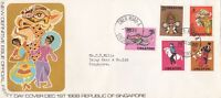 SG7a) SINGAPORE 1968  DEFINITIVE ISSUE  FDC
